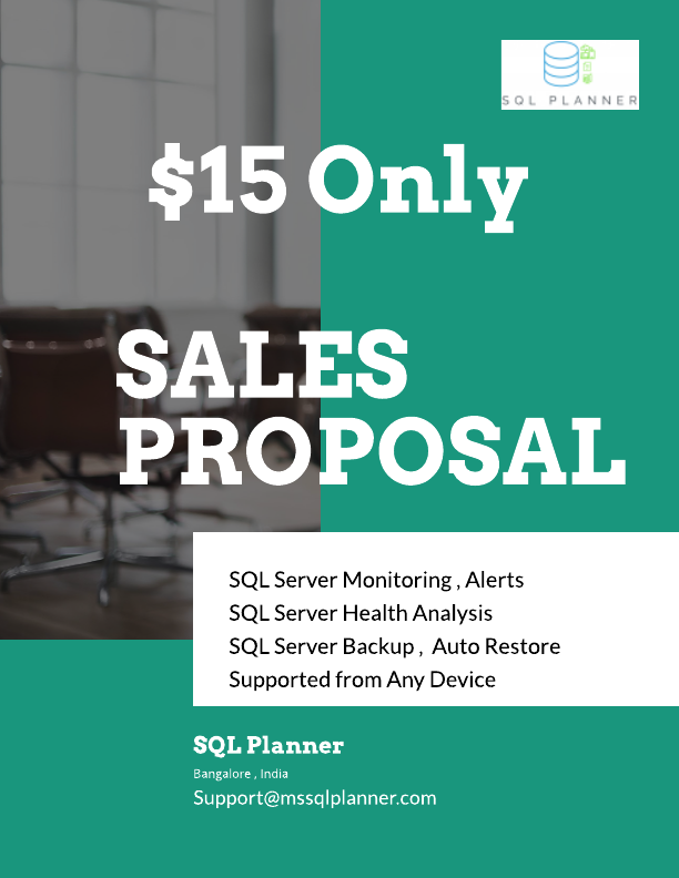 SQL Planner15$ per month Per instance